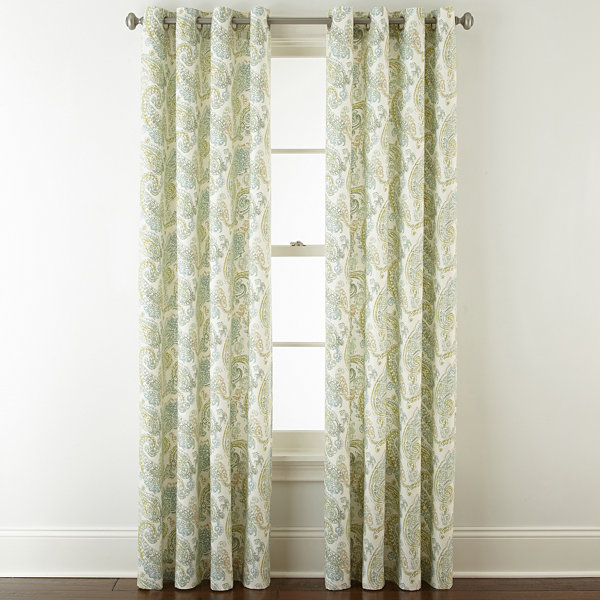 JCPenney Home Windsor Grommet-Top Curtain Panel - JCPenney