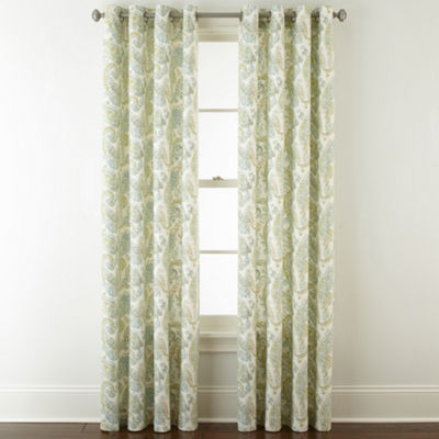 JCPenney Home Windsor Grommet-Top Curtain Panel