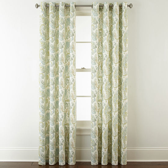 JCPenney Home Windsor Light-Filtering Grommet-Top Curtain Panel