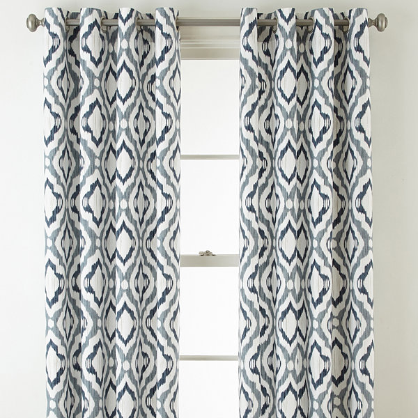 JCPenney Home Truman Grommet-Top Curtain Panel