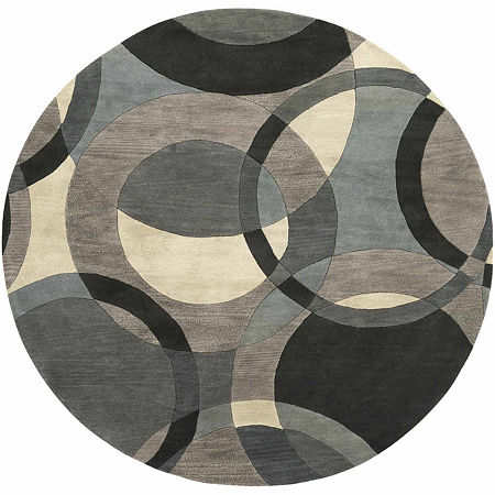 Decor 140 Gavar Hand Tufted Round Indoor Rugs, One Size , Gray