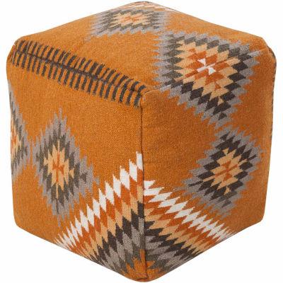 Ebaro Geometric Pouf Ottoman