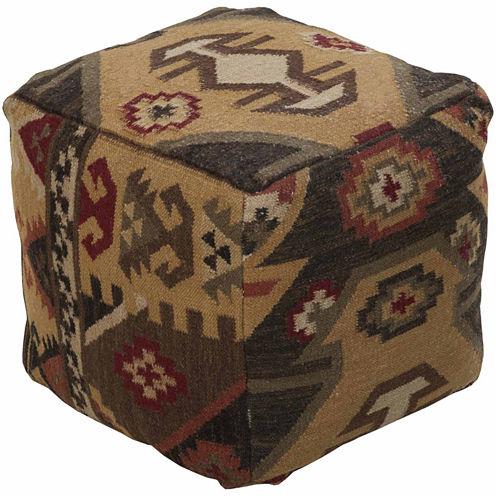 Decor 140 Manaslu Geometric Pouf Ottoman