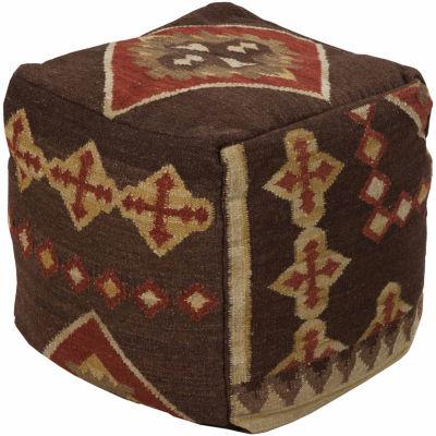 Oburn Geometric Pouf Ottoman