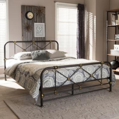 Baxton Studio Beatrice Full Platform Bed