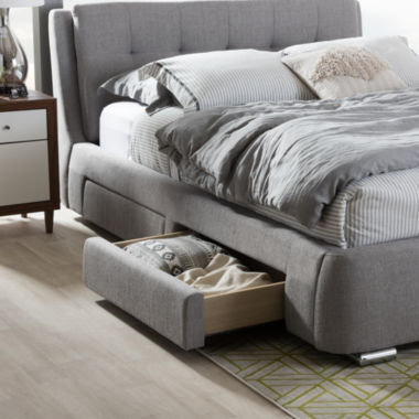 Baxton Studio Camile Platform Tufted Bed