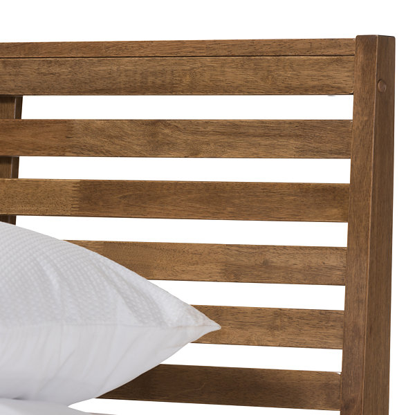 Baxton Studio Daylan Wood Slatted Platform Bed