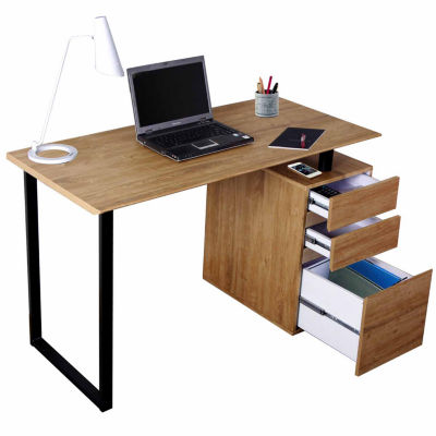 RTA Products LLC Techni Mobili Computer Desk with Storage and File Cabinet