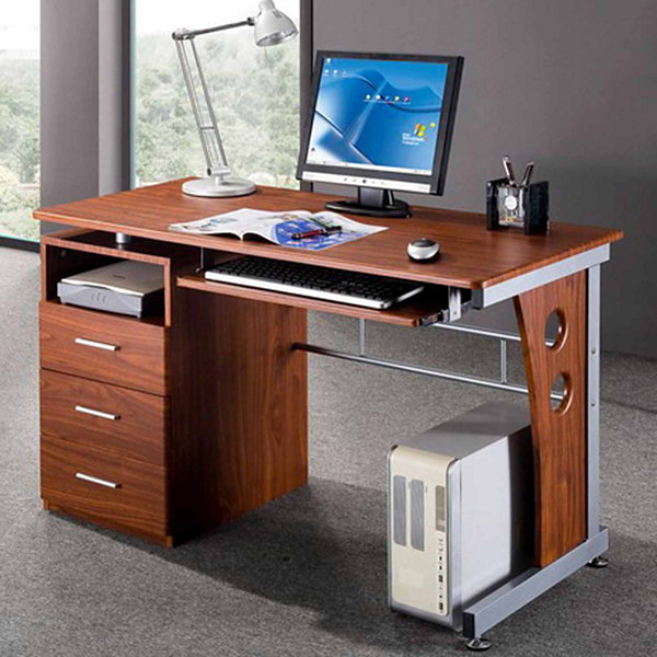 RTA Products LLC Techni Mobili Computer Desk with Ample Storage