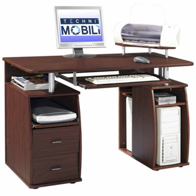 Techni Mobili Complete Computer Workstation Desk with Storage