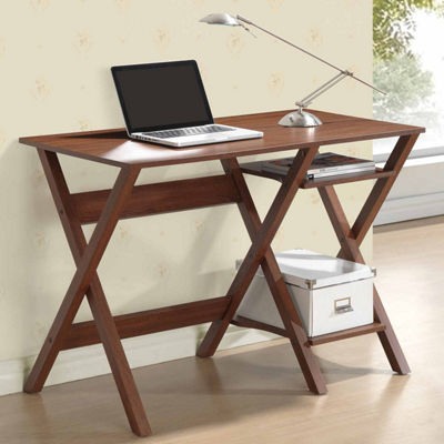 RTA Products LLC Techni Mobili Writing Desk with Side Shelves