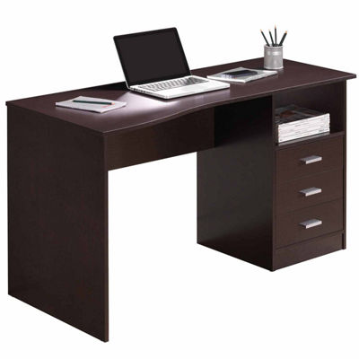 RTA Products LLC Techni Mobili Classic Computer Desk with Multiple Drawers