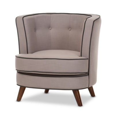 Baxton Studio Albany Tufted Club Chair