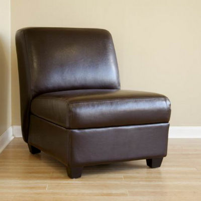 Baxton Studio Armless Club Chair