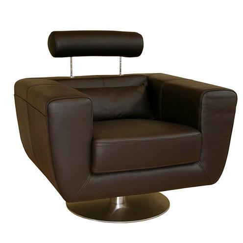 Baxton Studio Swivel Action Armchair