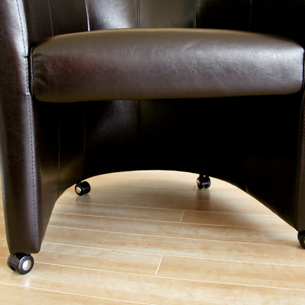 Baxton Studio Full Leather Club Chair