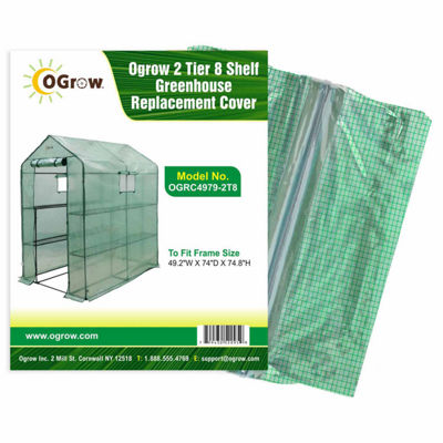 2 Tier 8 Shelf Greenhouse Pe Replacement Cover