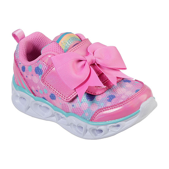 Skechers Heart Lights Toddler Girls Pull-on Sneakers