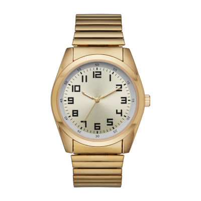 Mens Gold Tone Expansion Watch-Fmdjo121