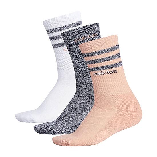 adidas 3 Pk Core 3 Stripe 1 Pair Crew Socks - Womens
