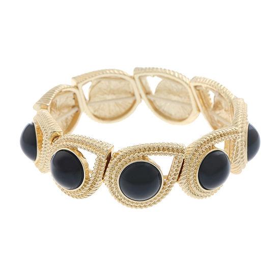 Monet Jewelry 90th Anniversary Black Round Stretch Bracelet