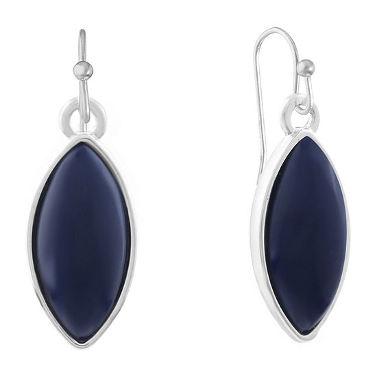 Liz Claiborne Simulated Blue Drop Earrings