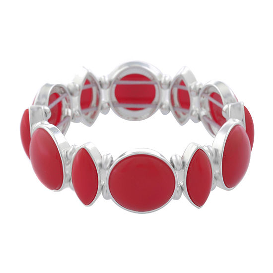 Liz Claiborne Simulated Red Stretch Bracelet
