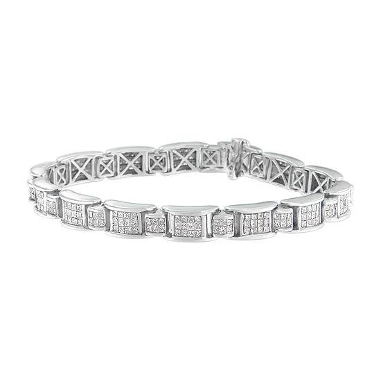 5 CT. T.W. Genuine White Diamond 18K White Gold 7 Inch Tennis Bracelet