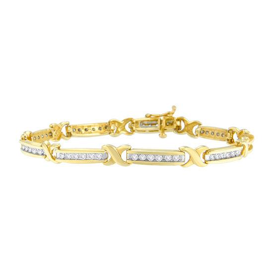 1 CT. T.W. Genuine White Diamond 14K Gold 7 Inch Tennis Bracelet