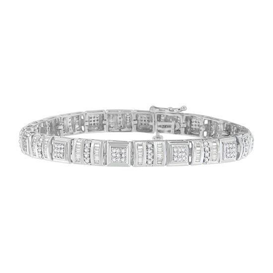 2 CT. T.W. Genuine White Diamond 10K White Gold 7 Inch Tennis Bracelet