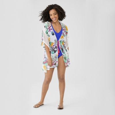 Miken Floral Swimsuit Cover-Up Dress-Juniors