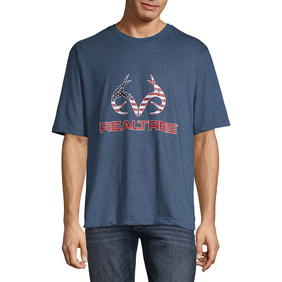 Realtree Americana Mens Crew Neck Short Sleeve T-Shirt