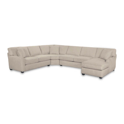 Fabric Possibilities Sharkfin 4-Pc Right Arm Chaise Sectional