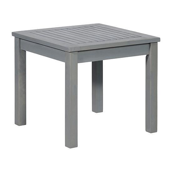 Walker Edison Acacia Patio Side Table