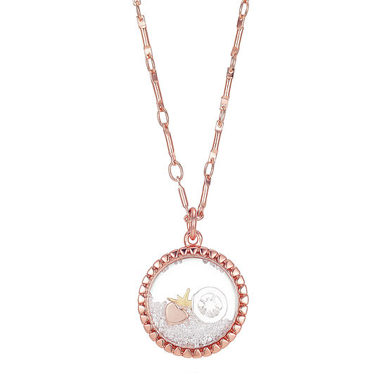 Footnotes Womens Crystal Star Pendant Necklace
