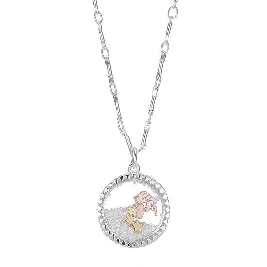 Footnotes Crystal 18 Inch Link Pendant Necklace