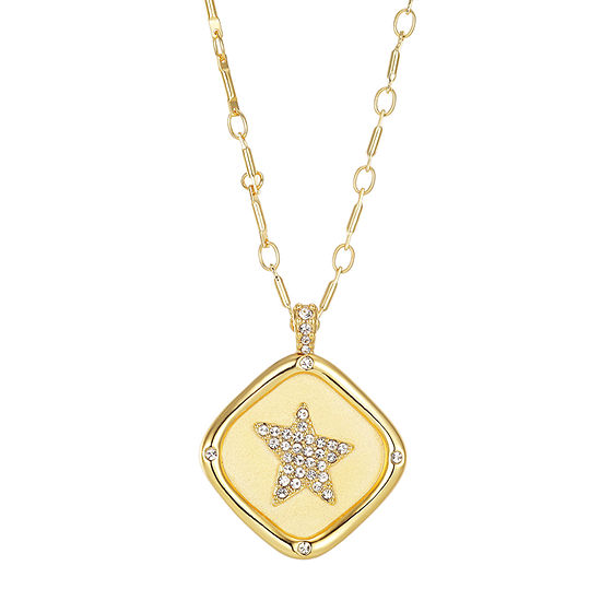 Footnotes Cubic Zirconia 18 Inch Link Star Pendant Necklace