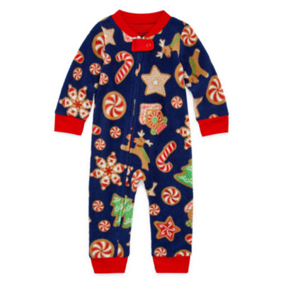 Secret Santa Cookie Family 1 Piece Pajama - Unisex Baby