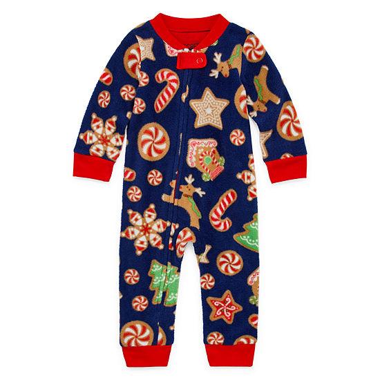 Secret Santa Cookie Family 1 Piece Pajama - Unisex Baby