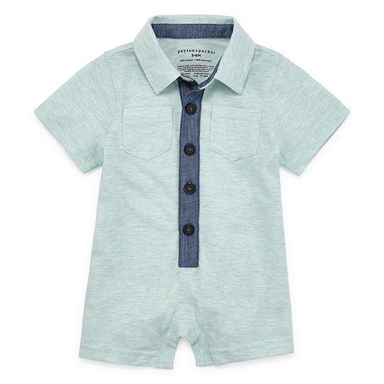 Peyton & Parker Short Sleeve Romper - Baby Boys