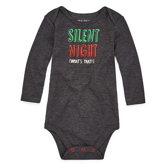 Okie Dokie Silent Night Christmas Unisex Bodysuit-Baby