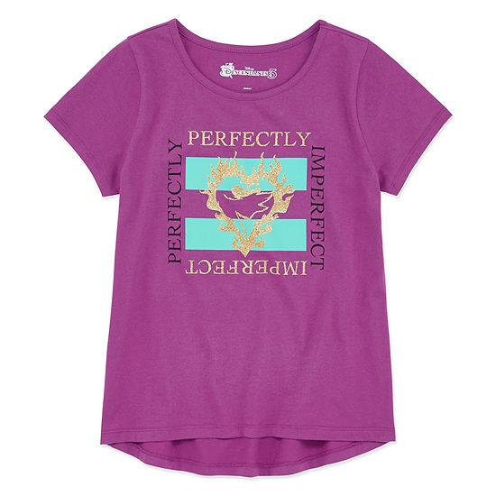Girls Crew Neck Short Sleeve Descendants Graphic T-Shirt - Preschool / Big Kid