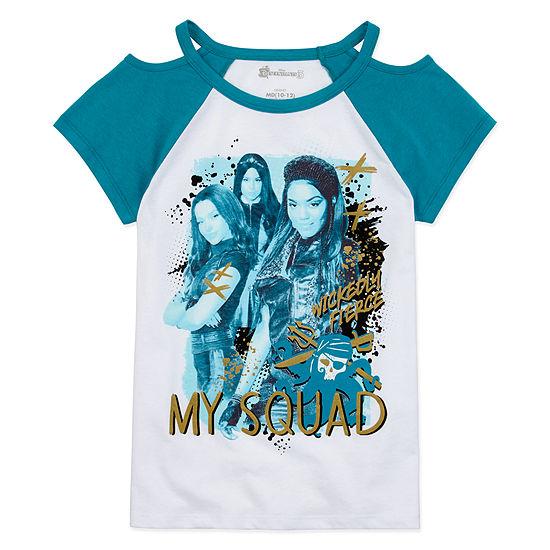 Descendants 3 Girls Crew Neck Short Sleeve Descendants Graphic T-Shirt Preschool / Big Kid
