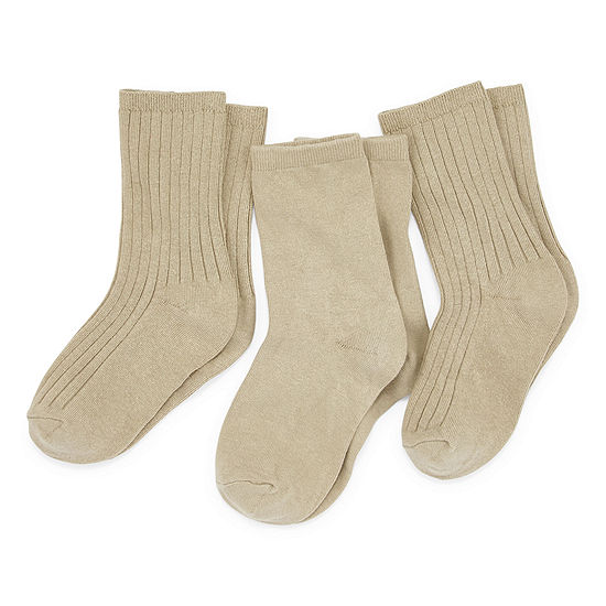 Boys' 3-Pack Crew Uniform Socks