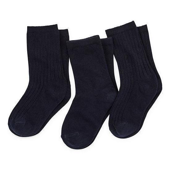 Boys' 3-Pack Crew Uniform Socks