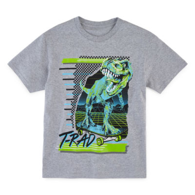 T-Rad Dino Little & Big Boys Crew Neck Short Sleeve Graphic T-Shirt