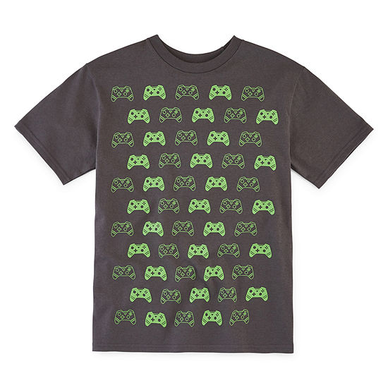 Video Game Controllers Little & Big Boys Crew Neck Short Sleeve Graphic T-Shirt