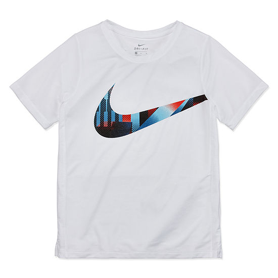Nike-Big Kid Boys Short Sleeve Dri-Fit T-Shirt