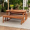 Walker Edison Acacia 3-pc. Patio Dining Set
