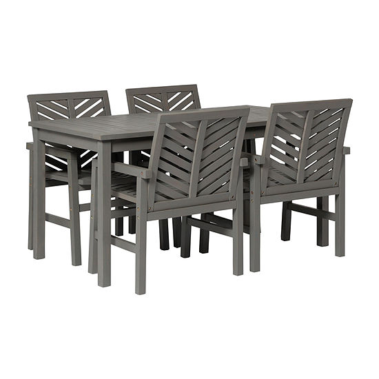 Walker Edison Acacia 5-pc. Patio Dining Set